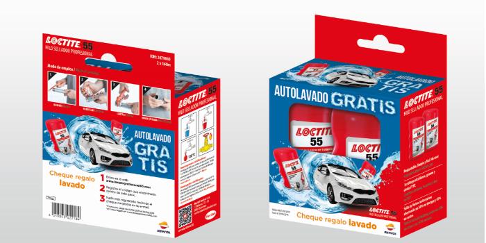 Limpia tu coche gratis gracias al nuevo pack de LOCTITE 55, el hilo sellador líder