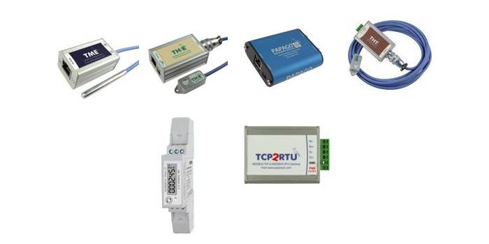 Sensores Temperatura, Humedad, Punto-de-Rocío y CO2 para Ethernet.