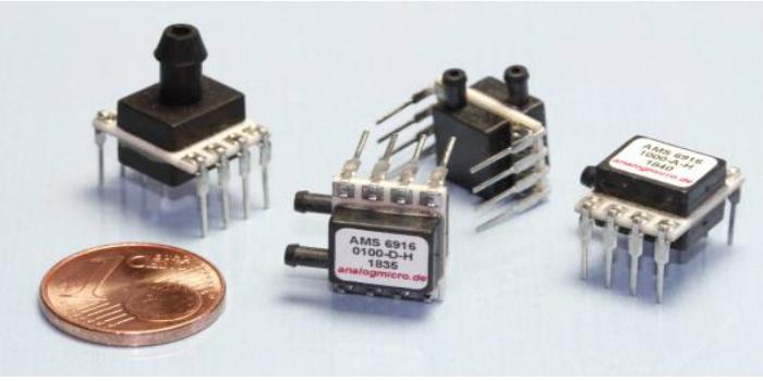 Analog Microelectronics presenta su serie de sensores de presión a nivel de placa AMS 6916