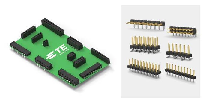 TE Connectivity presenta los conectores AMPMODU con pasos de 2 mm para transmisiones de señal de placa