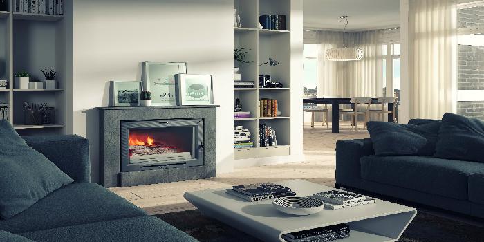 Hogar de leña H-03/70 Calefactor, calor en toda la casa y ahorro para las familias