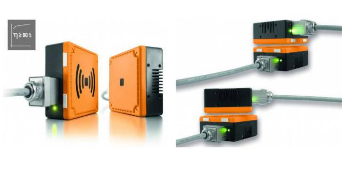 FreeCon Contactless de Weidmüller para vehículos industriales: Carga automatizada de sistemas móviles gracias a la transmisión de potencia sin contacto y sin mantenimiento de hasta 240 vatios.
