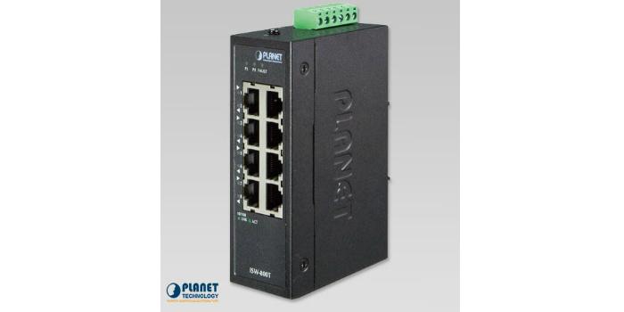 Switch Ethernet con ocho puertos 10/100TX para aplicaciones industriales