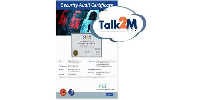 eWON® Talk2M com certificação de segurança STAR do ISECOM