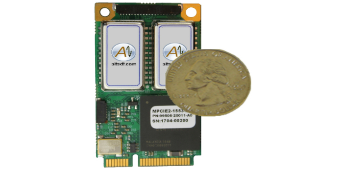 Tarjeta Mini PCI Express para redes MIL-STD-1553 de dos canales