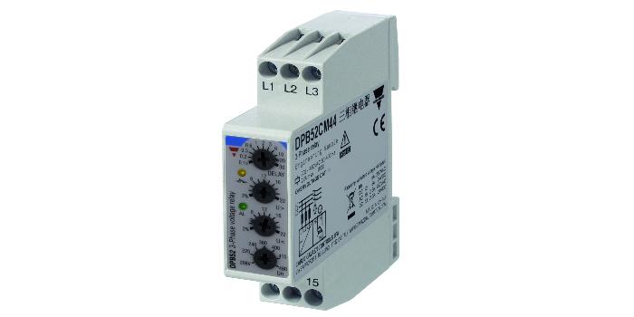 DPA52 y DPB52: Relés de monitorización trifásicos con mayor protección