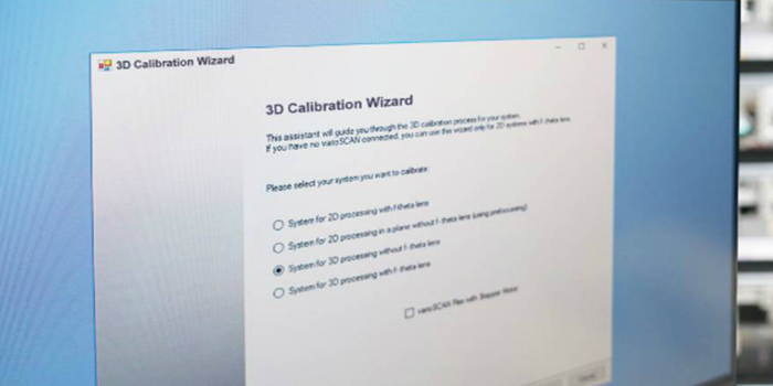 New software for easy 3D calibration of integrated scan systems