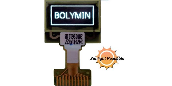 Pantalla OLED de 72 x 32 puntos para dispositivos wearables