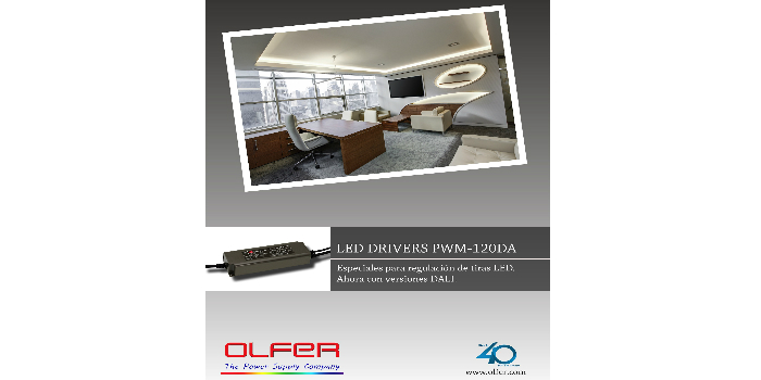 LED driver estanco con PFC y regulable mediante DALI