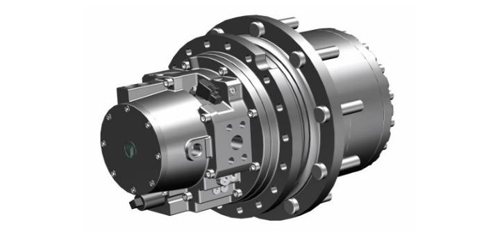 Nuevo reductor accionado hidráulicamente, con motor de pistón axial integrado – serie 600WT de Bonfiglioli