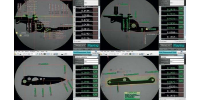 El proyector de perfiles digital Keyence mejora la productividad en Leatherman Tools