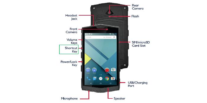 "PDA industrial con pantalla táctil multi-touch de 5"" y Android 8.0"