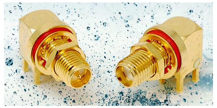 Conectores coaxiales impermeables para PCB