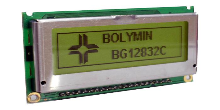 Display LCM de 128 x 32 puntos con alimentación de +5 V
