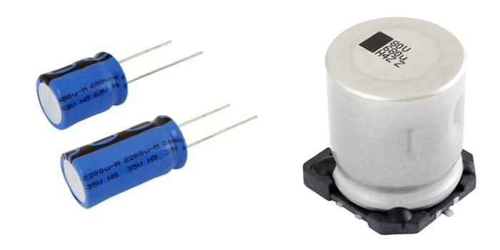 RS Components distribuye nuevos condensadores de aluminio con alta capacidad de vibración de Vishay