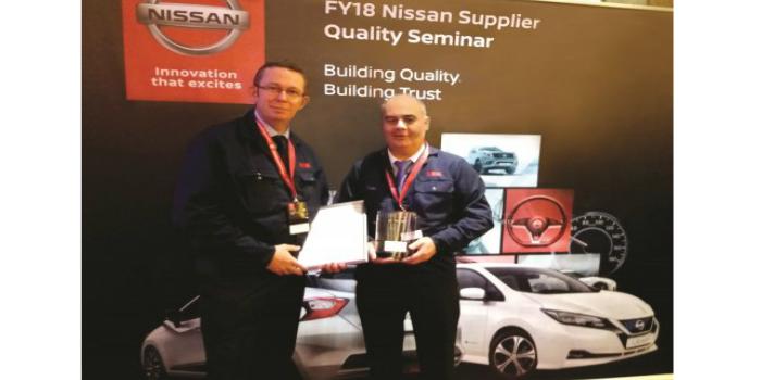 La planta de Peterlee de NSK recibe el Premio de calidad de Nissan