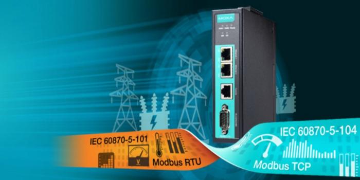 Moxa presenta las nuevas puertas de enlace de protocolo Modbus/IEC 101 a IEC 104 para actualizar las redes eléctricas