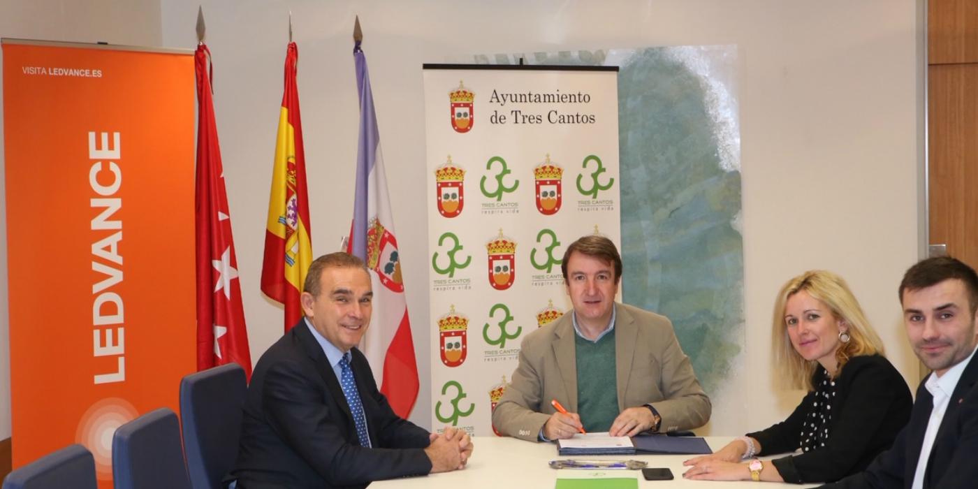 LEDVANCE y el Ayuntamiento de Tres Cantos firman un convenio para fomentar el empleo y el desarrollo económico en el municipio