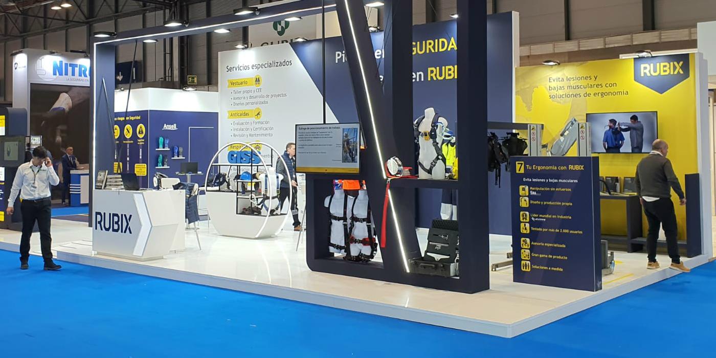 RUBIX presenta en sicur 2020 todas sus novedades en materia de seguridad laboral