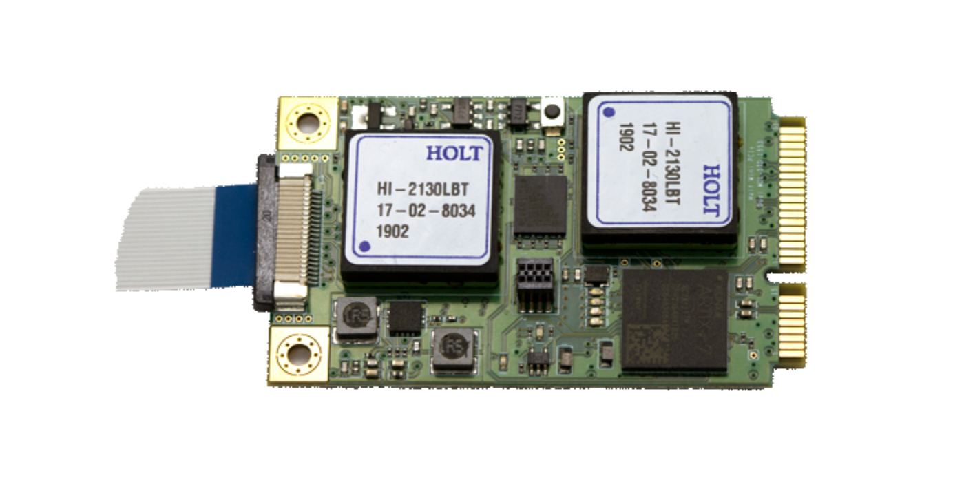 Diseño de referencia mini PCIe de canal dual para MIL-STD-1553