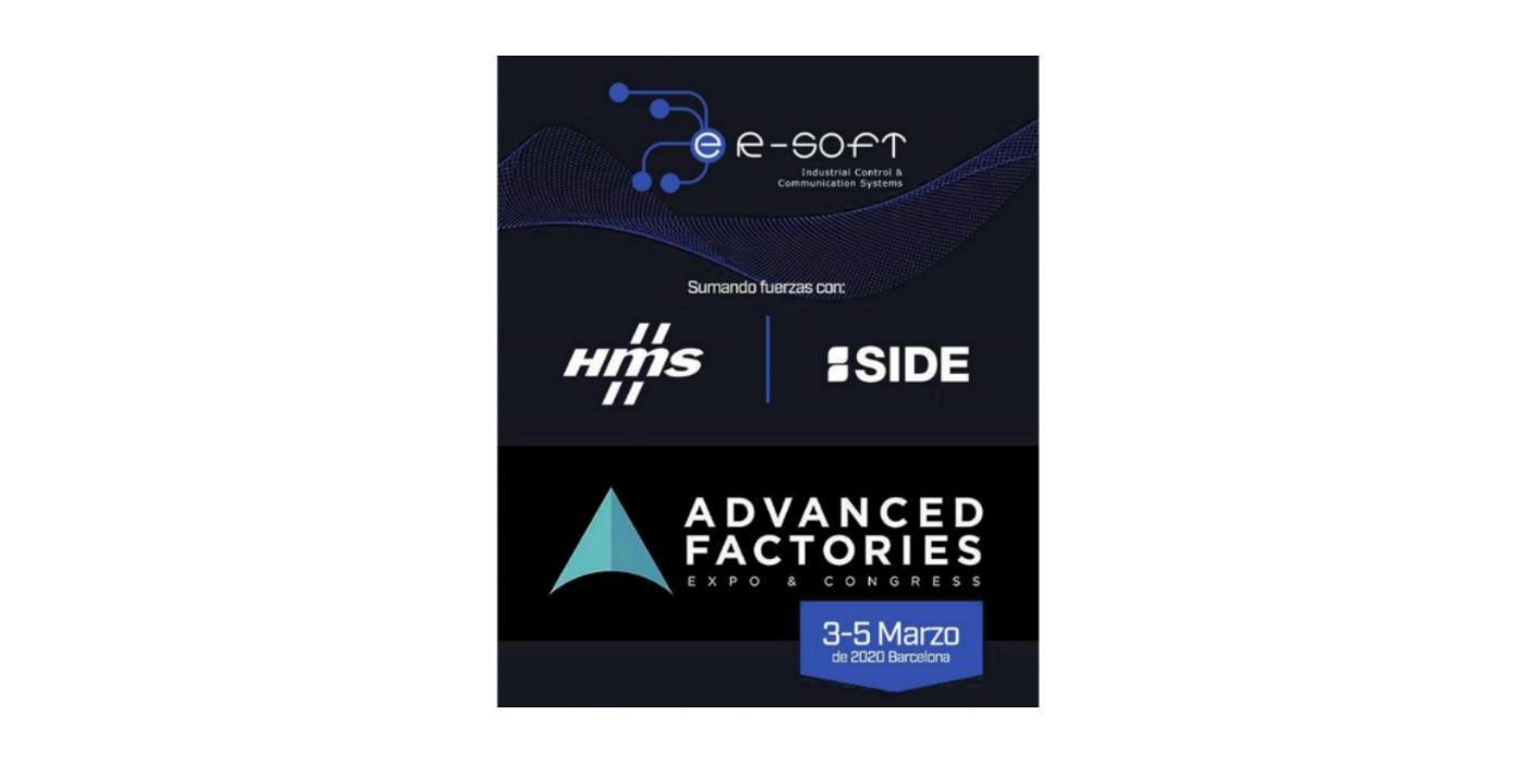 ER-Soft estará presente en Advanced Factories, del 3 al 5 de marzo del 2020 en el CCIB