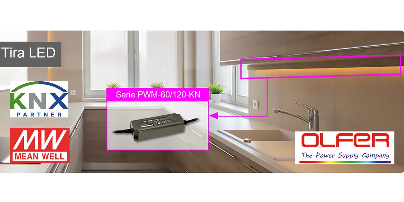 PWM-60KN/120KN. Led driver KNX con salida PWM