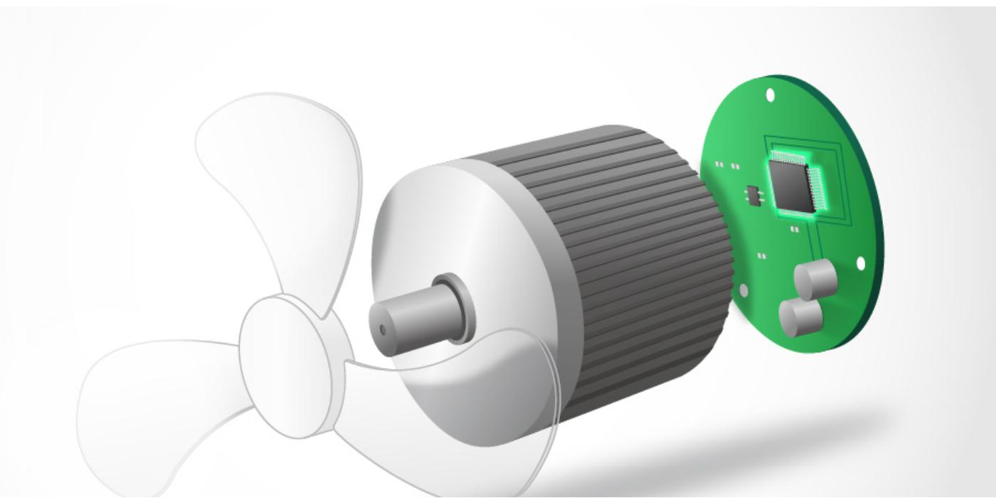 Microcontrolador para motores sin escobilla