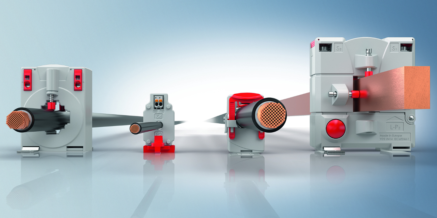 Los transformadores de corriente SCT completan la cadena de medición de energía integrada desde el sensor hasta la nube
