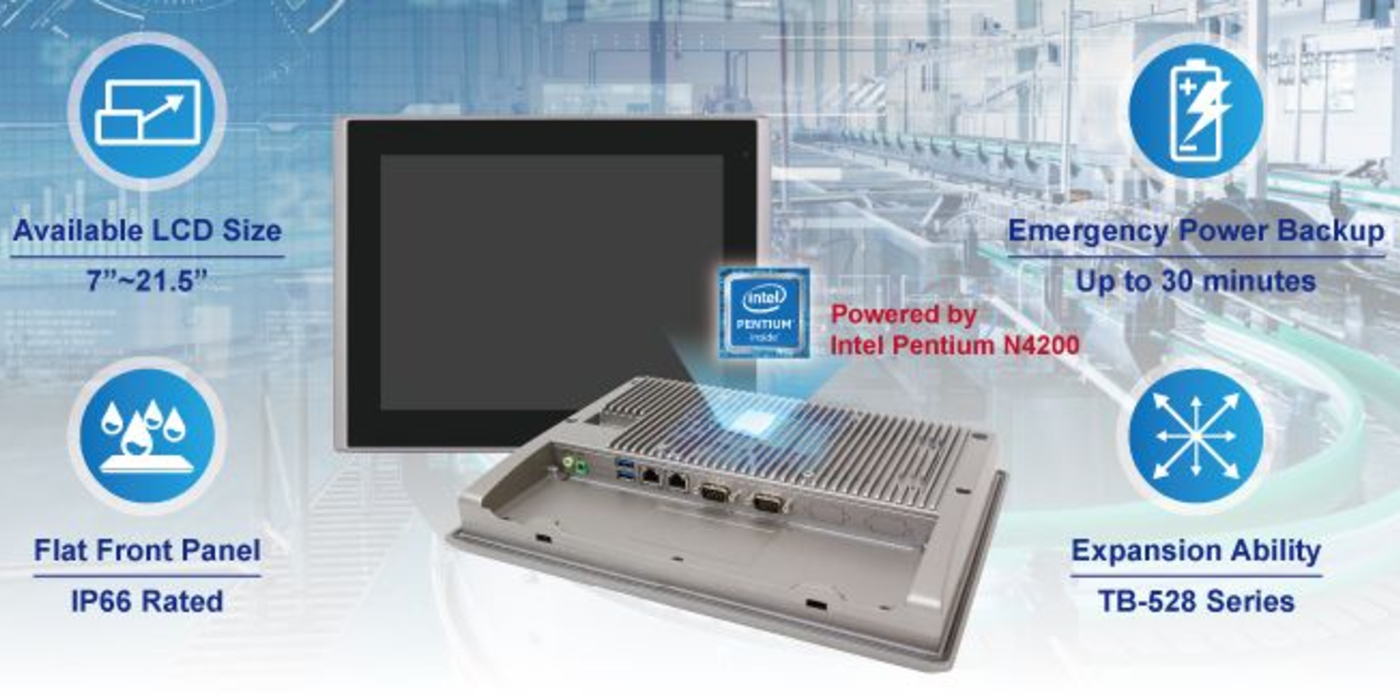 """HMI industriales de 7 a 21.5"""" para Industria 4.0 e IIoT"""