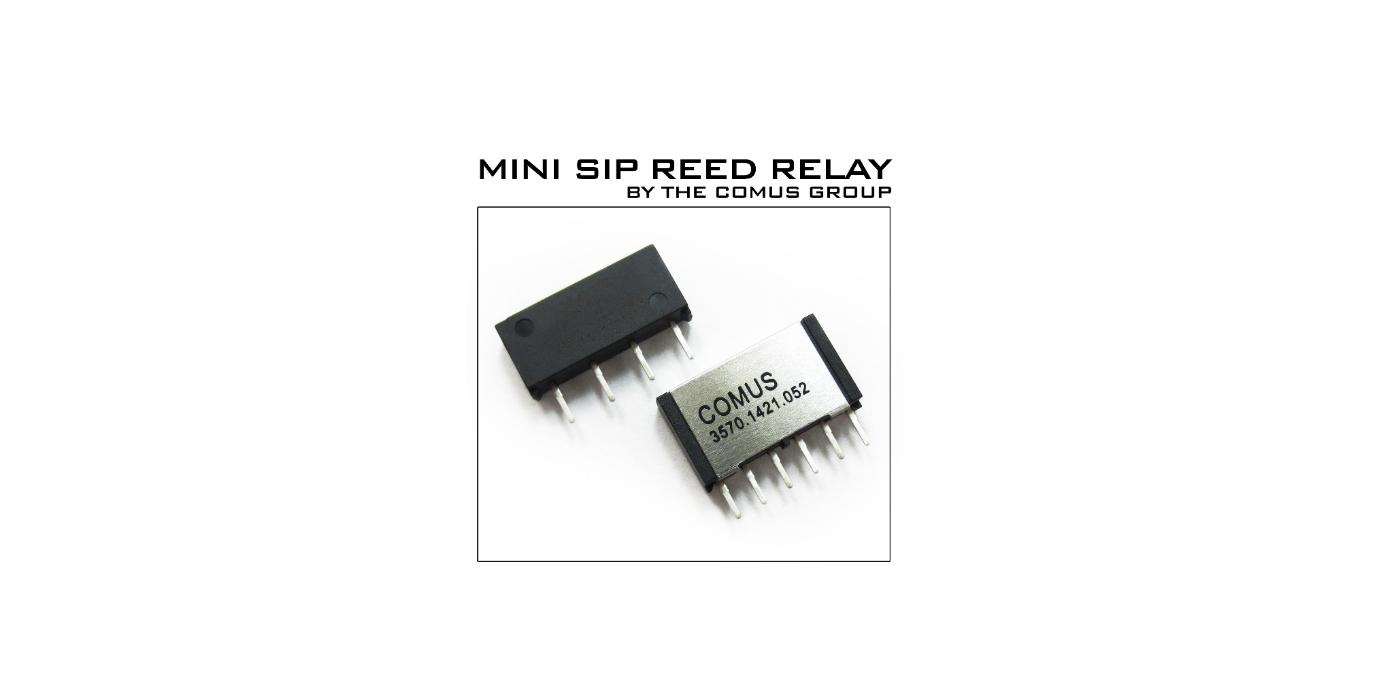 Relés Reed Mini SIP para matrices de test e instrumentación
