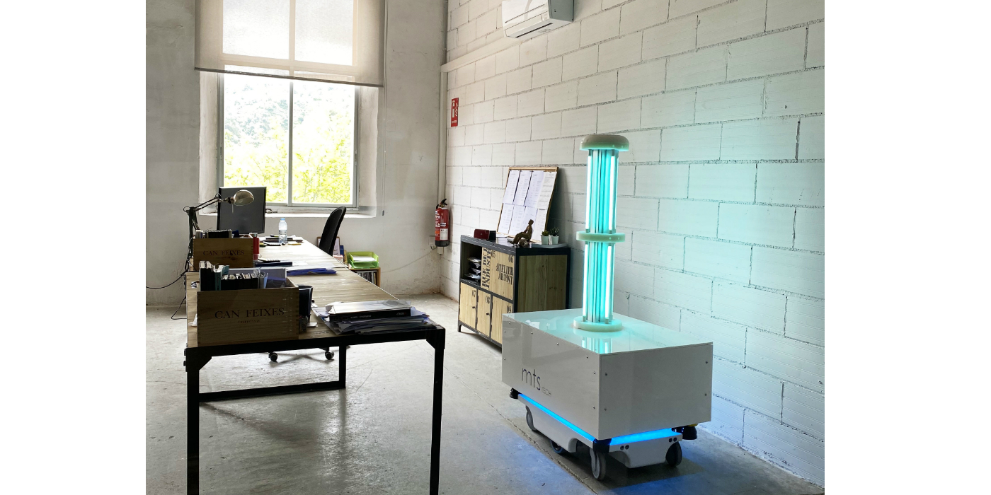 """El robot de desinfección MTS uvc elegido para mostrarse en la nueva exposición """"Emergencia! Diseños contra la covid-19"""" del Museu del Disseny de Barcelona"""