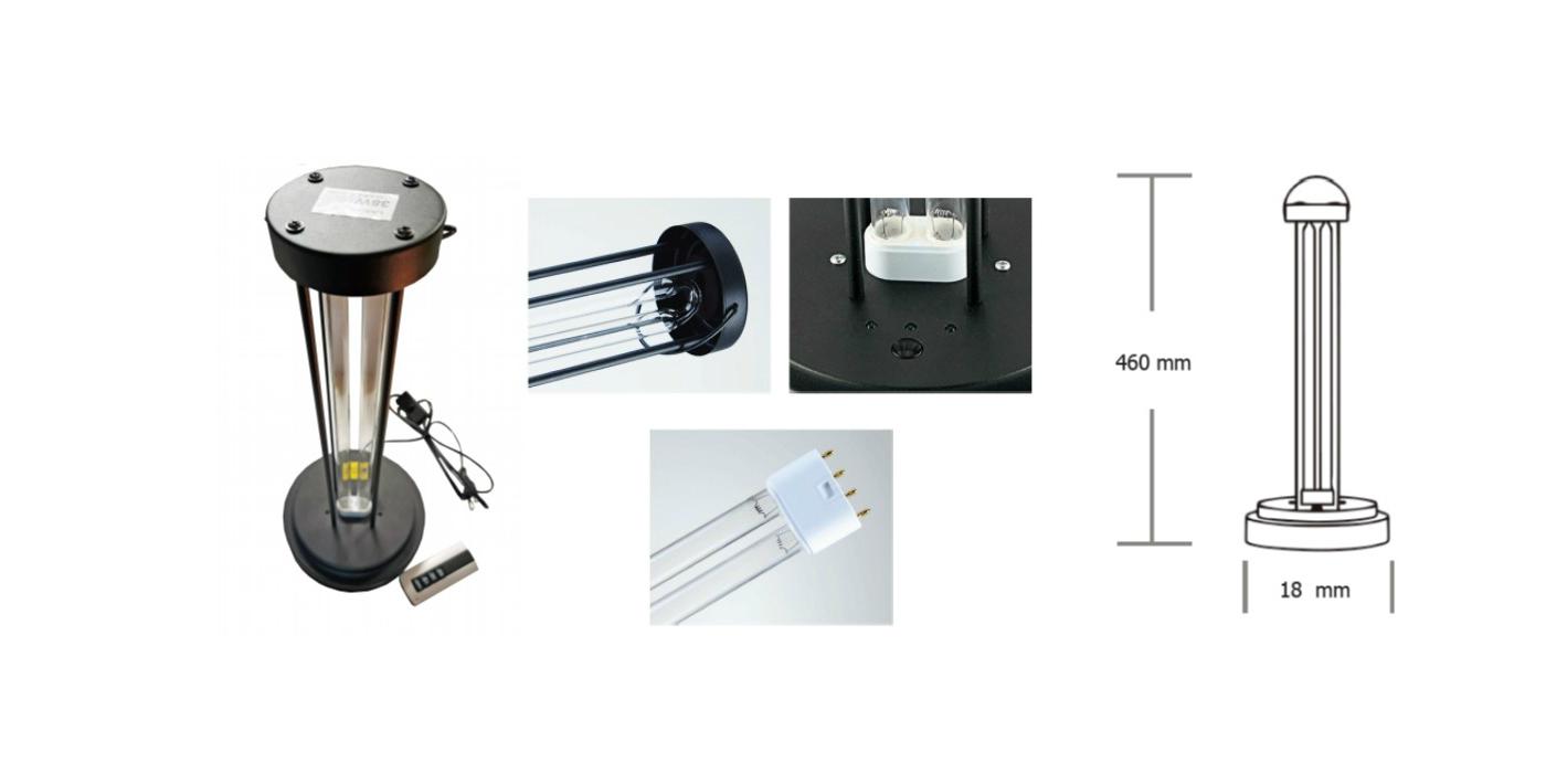 Lámpara ultravioleta 230VCA – 38W