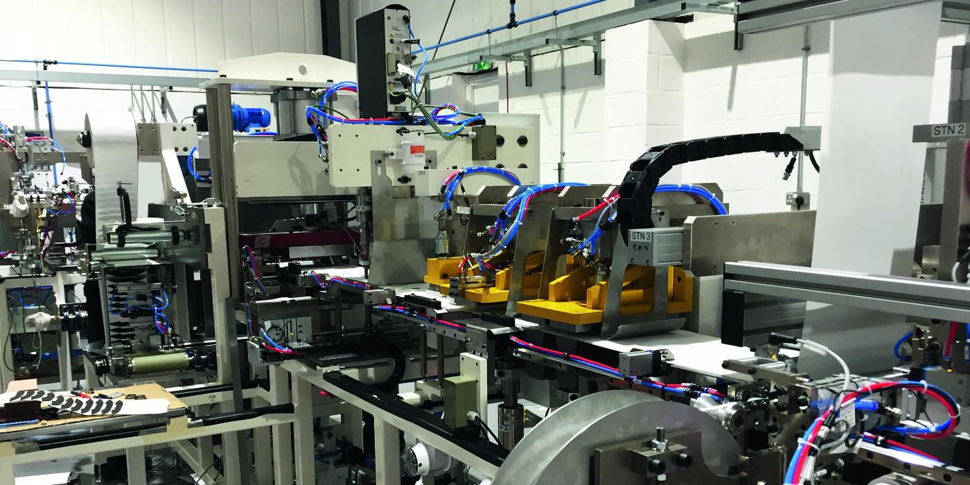 Las guías lineales de NSK son elementos ideales para las máquinas de fabricación de mascarillas