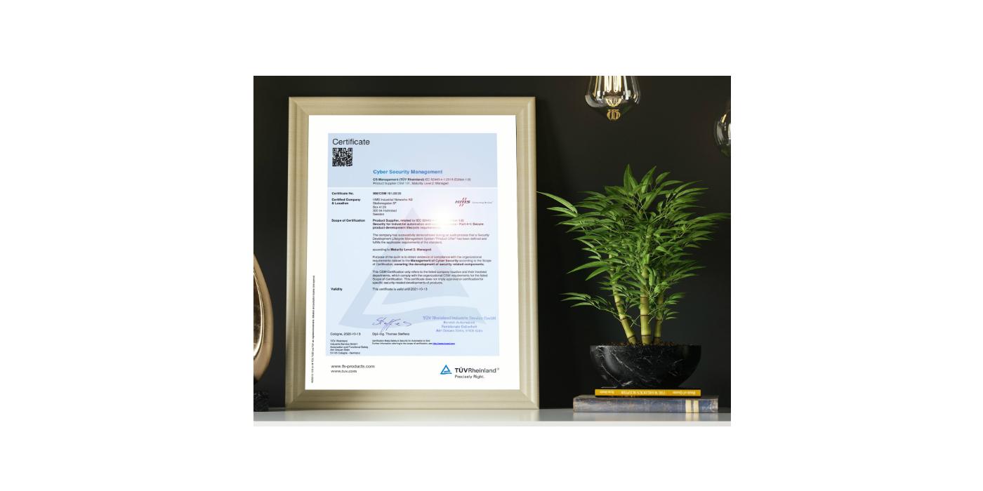 HMS Networks obtiene la certificación IEC 62443-4-1 para un ciclo de vida seguro de desarrollo de productos