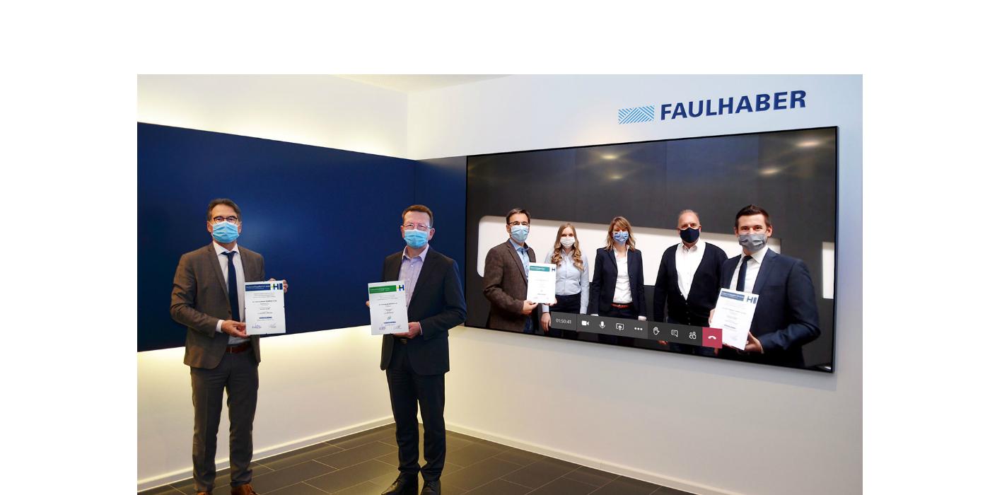 """Galardón: FAULHABER es el """"socio tecnológico preferido"""" de Heidelberger Druckmaschinen AG"""