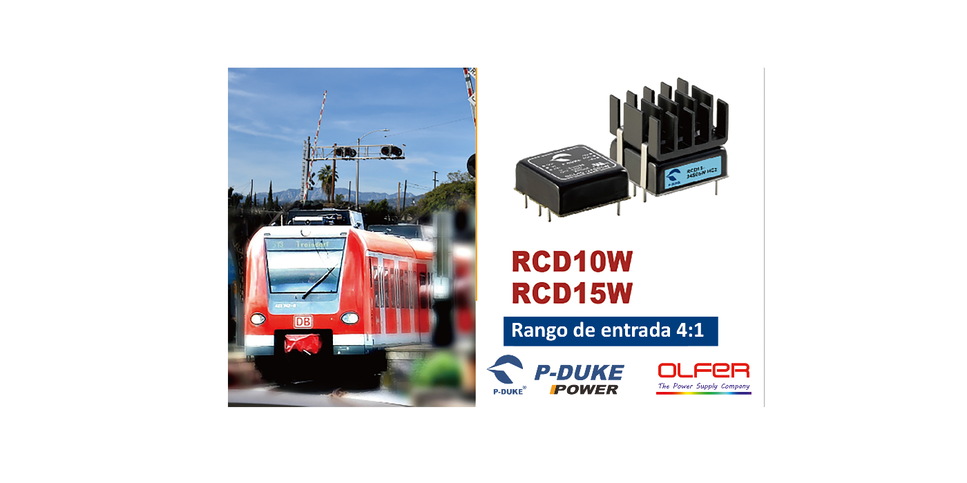 Aplicaciones ferroviarias, industriales y telecomunicaciones. Series RCD10W / RCD15W