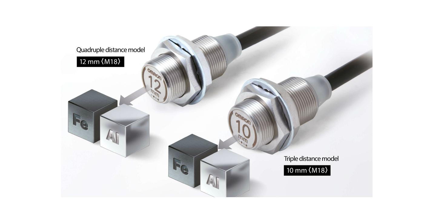 RS Components incluye en su oferta los nuevos sensores de proximidad frontales metálicos de la serie E2EW de OMRON