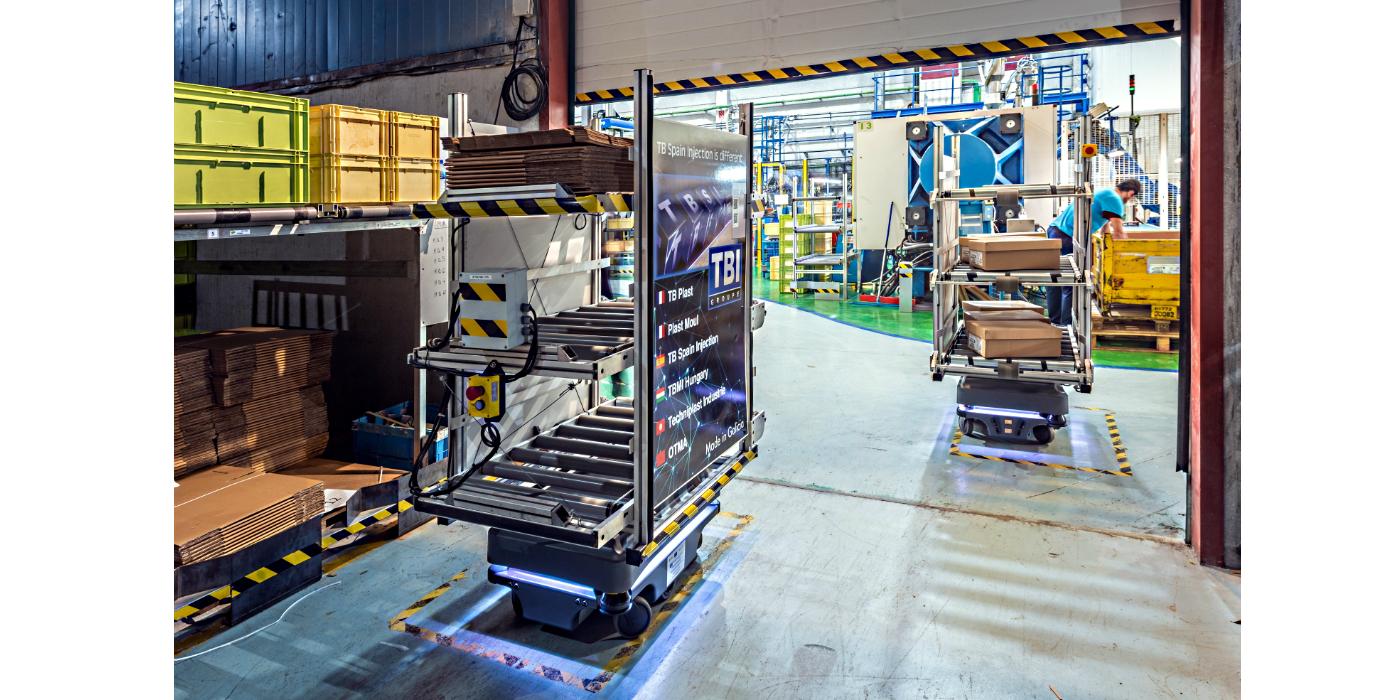TB Spain Injection logra importantes ganancias en su capacidad productiva con dos robots MiR
