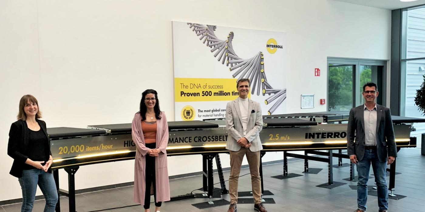 Interroll comienza su colaboración con la Universidad Fontys de Ciencias Aplicadas en Venlo, Países Bajos