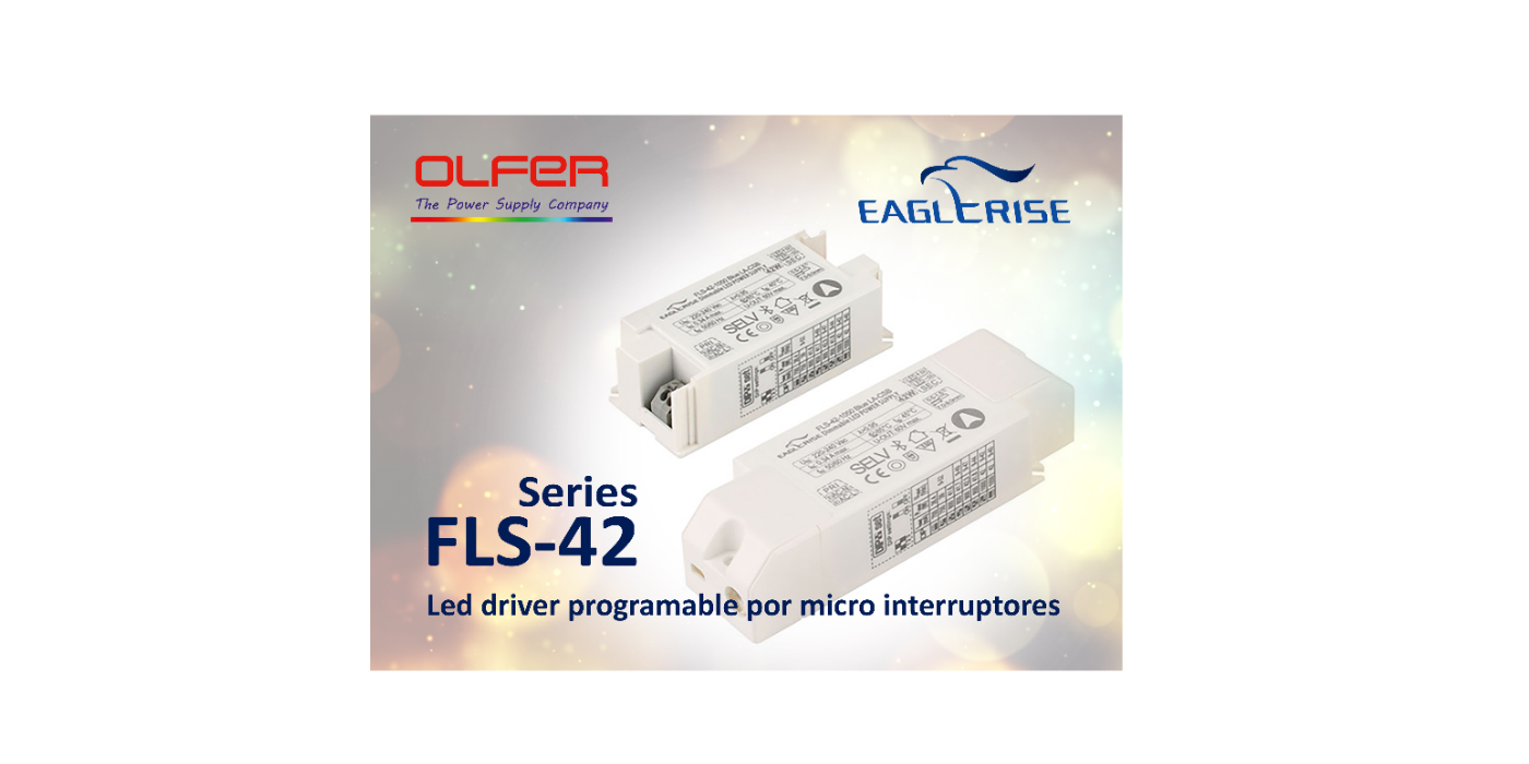 Led driver programable por micro interruptores (Dip-Switch): Series FLS-42