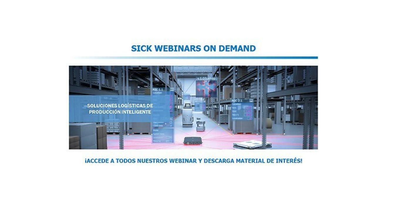 SICK lanza Webinars on Demand, una plataforma de formación y contenido gratuito