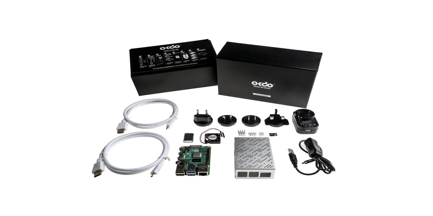 Kit de iniciación Raspberry Pi 4 Model B 8GB de OKdo disponible a través de RS Components