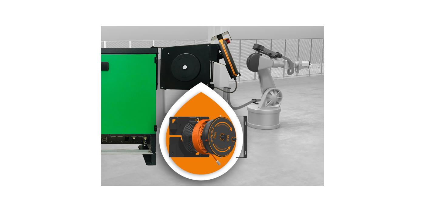 e-spool flex para el suministro continuo de energía en robots industriales