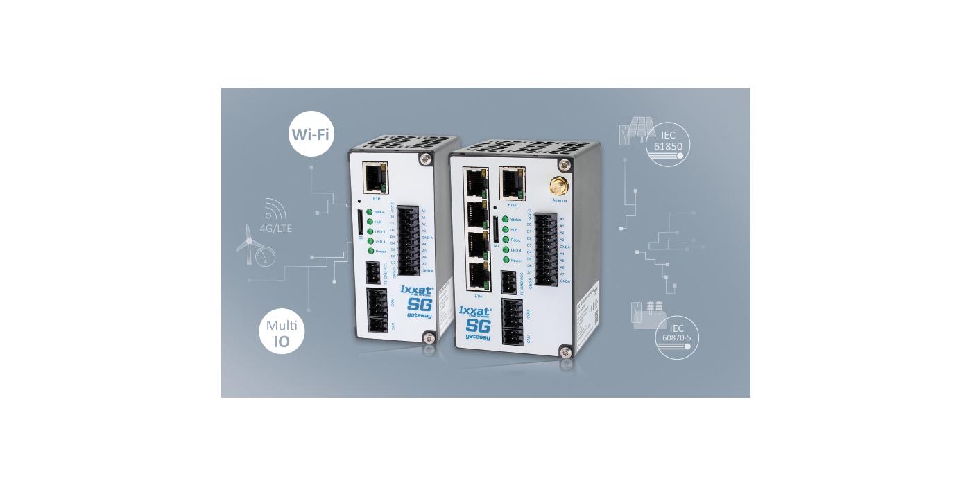Las pasarelas de red (eléctrica) inteligente Ixxat SG permiten que los sensores E/S y Wi-Fi se conecten a las redes de energía