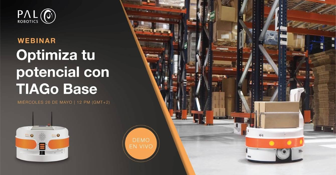 «Optimiza tu potencial con TIAGo Base»: webinar de PAL Robotics sobre AMR