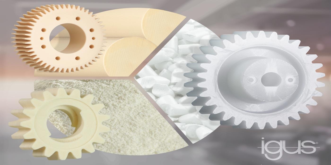 Impresos, mecanizados y ahora también inyectados: engranajes plásticos resistentes al desgaste de igus