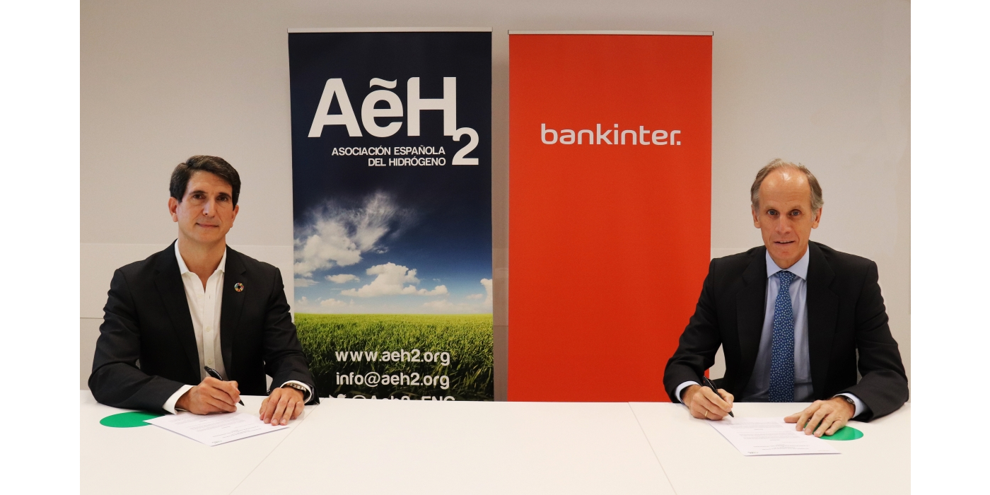 Bankinter y la Asociación Española del Hidrógeno firman un acuerdo para financiar proyectos de hidrógeno en empresas