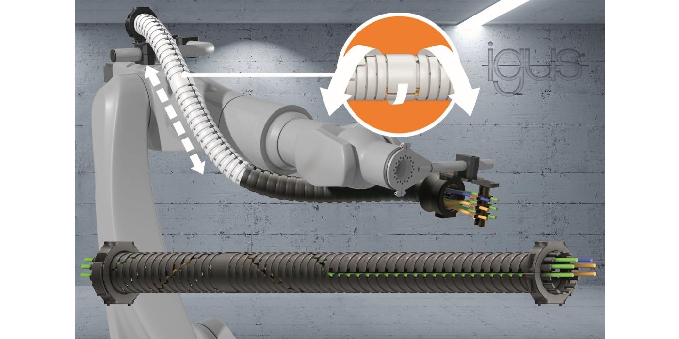 El nuevo sistema de suministro de energía triflex TRX revoluciona el movimiento 3D de los robots