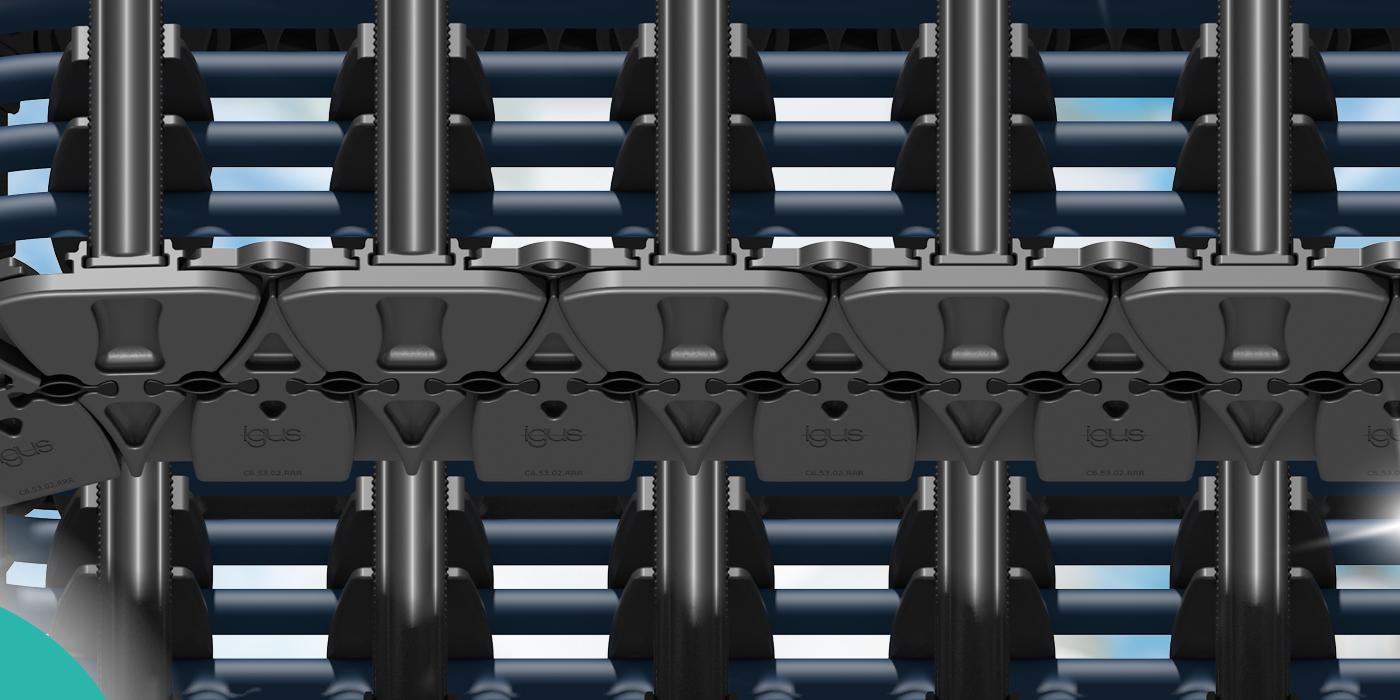 Cadena Portacables C6: nuevo diseño de  materiales optimizados contra el desgaste para  salas blancas de las más alta calidad