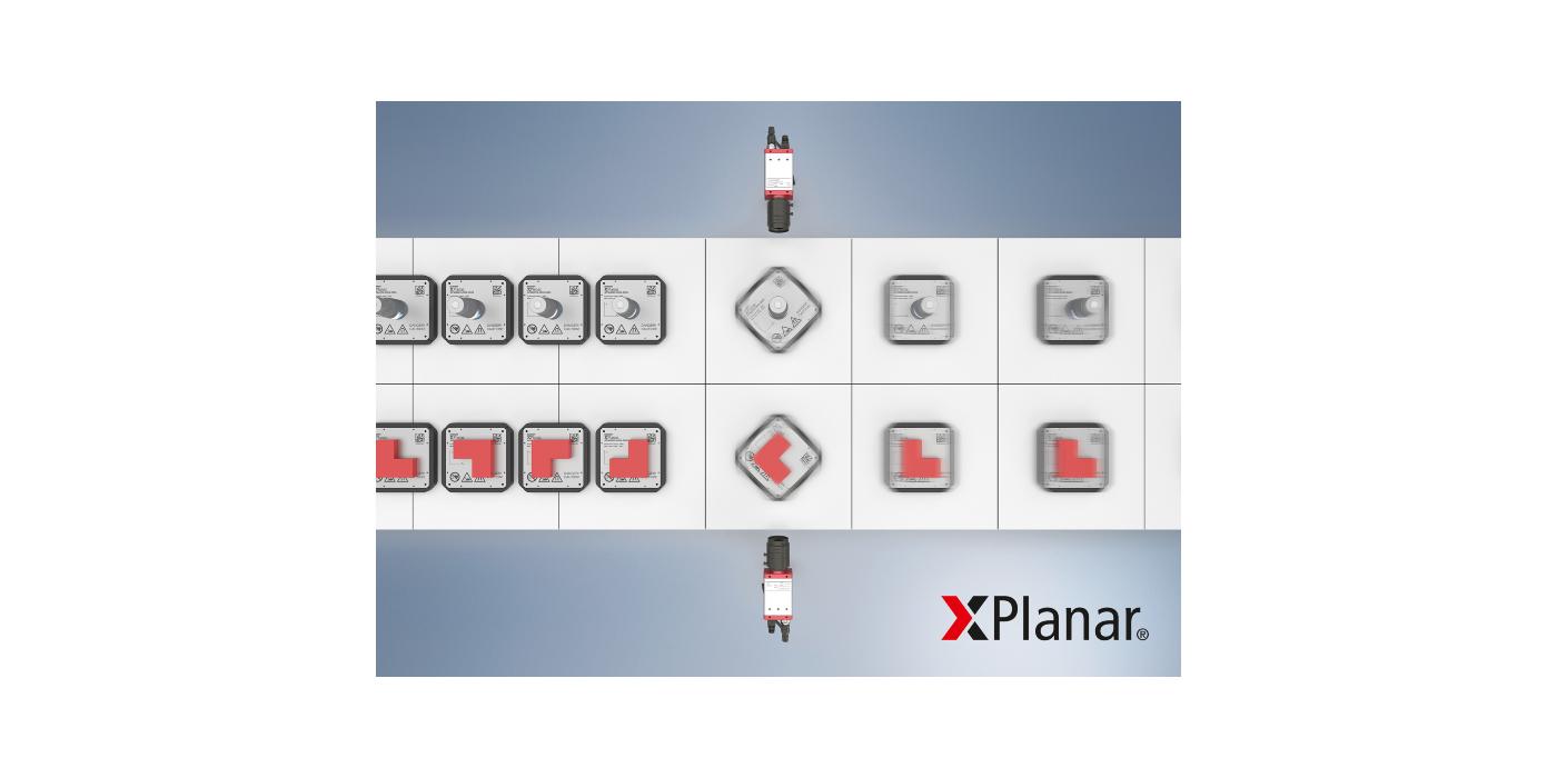 XPlanar: grado de libertad adicional para el sistema de accionamiento del motor planar mediante la rotación de los Movers de 360° basada en software